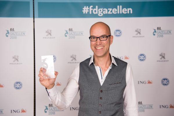 Patrick met fd Gazellen-prijs 2018