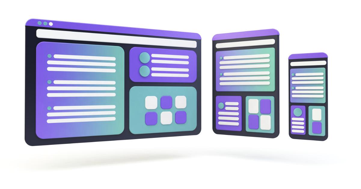 Voorbeeld schermen interface