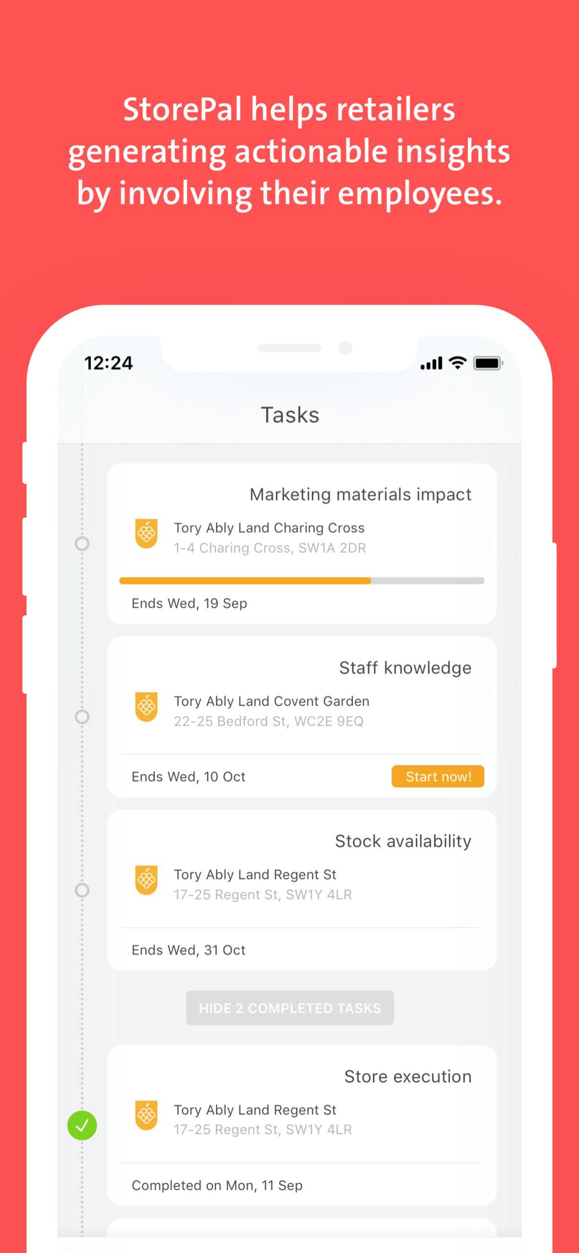 OCS screen storepal app