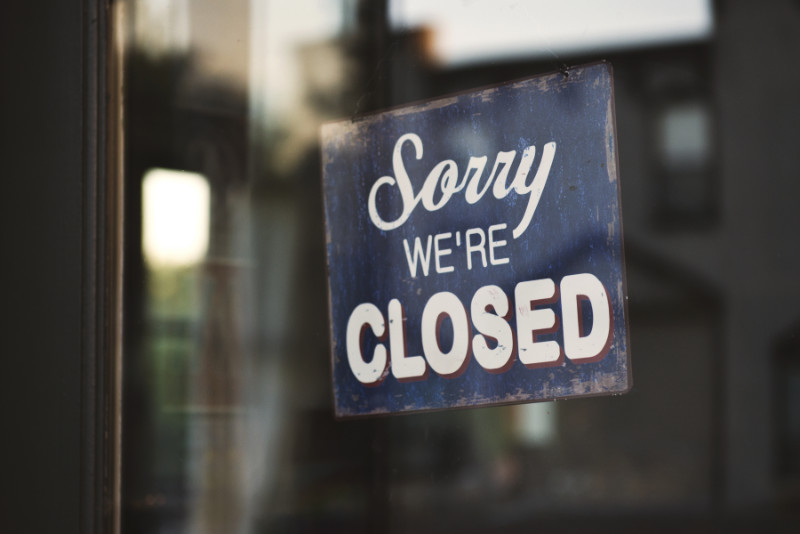 """Bordje """"Sorry, we're closed"""""""